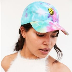 Urban Outfitters Smileyworld Tie Dye Smiley Hat